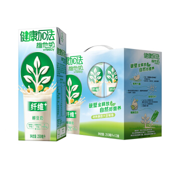 vitasoy 维他奶 健康加法纤维+ 醇豆奶饮料 250ml*12盒