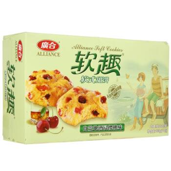 广合 软趣燕麦水果软曲奇 (盒装、樱桃红提口味、165g)