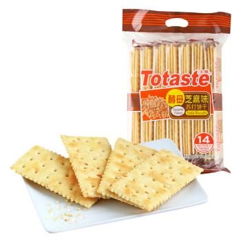 Totaste 土斯 芝麻味苏打饼干 (袋装、350g)