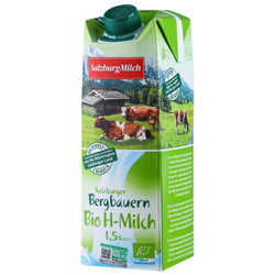 SalzburgMilch 萨尔茨堡 部分脱脂有机纯牛奶 1L *10件