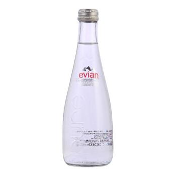 evian 依云 天然矿泉水 330ml 玻璃瓶装