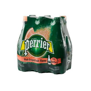 Perrier 巴黎水 天然含气矿泉水 西柚味 500ml*6瓶
