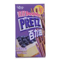 glico 格力高 百力滋双层蓝莓芝士味 (盒装、45g)