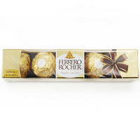 FERRERO ROCHER 费列罗 T5 金莎榛果威化巧克力 5粒 62.5g
