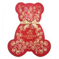 GODIVA 歌帝梵 圣诞小熊形巧克力礼盒 7颗装