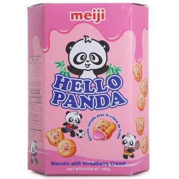 meiji 明治 熊猫草莓夹心饼干 260g