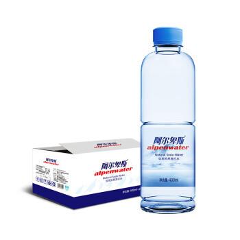 Alpenliebe 阿尔卑斯 阿尔卑斯天然苏打水400ml*24瓶 高ph值 无气饮用水 弱碱性矿泉水