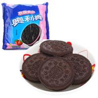 OREO 奥利奥 夹心饼干 草莓味 390g