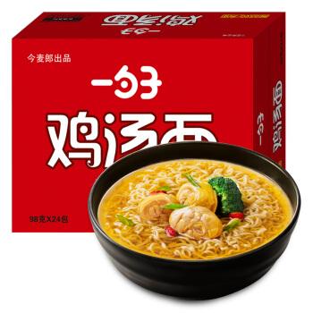 今麦郎 一勺子菌菇鸡汤面 (箱装、98g*24)