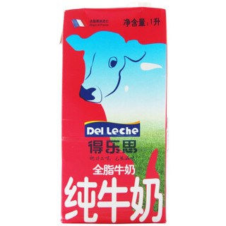 DelLeche 得乐思 全脂牛奶 1L