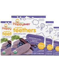 HAPPY BABY 禧贝 婴幼儿温和有机磨牙饼干 蓝莓紫胡萝卜  48g* 4