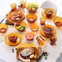 DURALEX 多莱斯 餐具套装六人 25件套 琥珀色