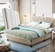 黑五7折喜临门 时尚主卧皮床床托款+进口3D芯材邦尼尔弹簧护脊床垫 主卧双人套餐 送木质床头柜一对 1.8*2.0
