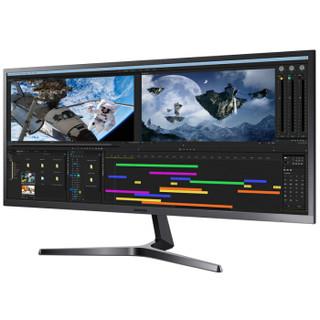 SAMSUNG 三星 S34J550WQC 34英寸 VA显示器(3440x1440)