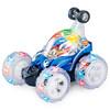 DZDIV 特技车 玩具遥控车可充电儿童玩具闪光音乐跳舞翻斗车9008A蓝色(新老款随机发货)
