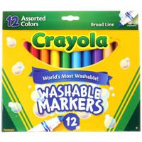 绘儿乐 Crayola 儿童12色可水洗粗头水彩笔美国进口官网正品58-7812