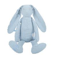 麦侬贝儿(Manon Des Pres)法国品牌婴儿安抚玩偶儿童毛绒布艺玩具宝宝礼物全棉 安心兔新款蓝色条纹 35cm