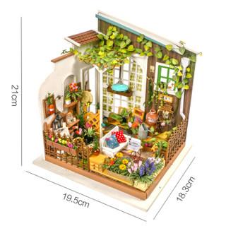 Robotime 若态 DG108 立体木质拼图  米勒阳光花园