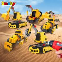 Smoby 智比 500087 儿童拼装玩具城市工程车 1盒5车模