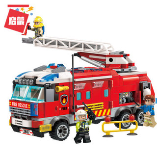 QMAN 启蒙 ENLIGHTEN 启蒙 消防局系列 2807 消防指挥车