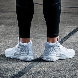 ANTA 安踏 11811001 NBA战靴 男士低帮减震运动鞋 安踏白/冷灰 40