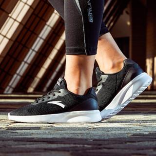 ANTA 安踏 92815525 女士慢跑休闲鞋 (35.5、黑/安踏白)