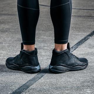 ANTA 安踏 11811001 NBA战靴 男士低帮减震篮球鞋 黑/冷灰/金属金 44.5