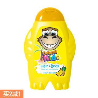 日本进口德露宝儿童洗发沐浴露水果味300ml温和亲肤 洗沐二合一 *2件