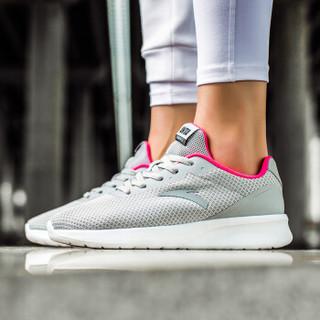 ANTA 安踏 92815525 女士慢跑休闲鞋 (35.5、雾灰/荧光数码粉)