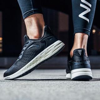 ANTA 安踏 11815532 2018新品 FLASHFOAM 男士轻质高弹跑步鞋 (42.5、黑)