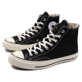 CONVERSE 匡威 162050C 情侣款 高帮帆布鞋 黑色 42.5
