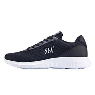 361° 361度 671832270-3 男士跑步鞋 (42、曜石黑/361度白)