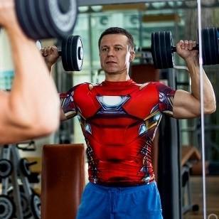 限尺码 : UNDER ARMOUR 安德玛 英雄系列 钢铁侠 1273694 男款紧身衣