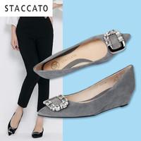 STACCATO 思加图 9YR07CQ6 女士羊绒皮坡跟单鞋
