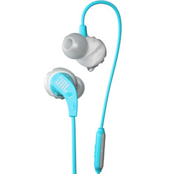 JBL Endurance Run 入耳式有线运动音乐耳机耳麦 可通话绕耳式耳麦 天蓝色