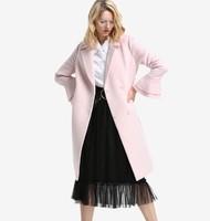 ochirly 欧时力 1JZ3349670 女士毛呢外套 (XS、浅粉色)