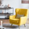 KUKa 顾家家居  DS1562 美式休闲单人座椅布艺小沙发
