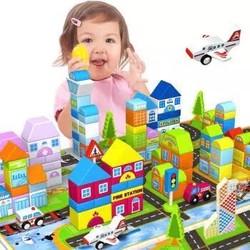 铭塔 婴幼儿童益智玩具 200粒+美高大颗粒80片 *3件