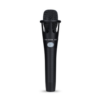 Blue enCORE300手持电容麦克风 专业喊麦主播直播设备声卡套装 网络K歌录音话筒
