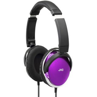 JVC 杰伟世 S660 折叠头戴式耳机 紫色