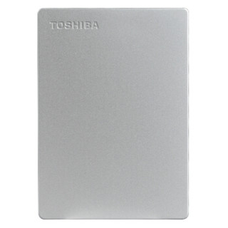 TOSHIBA 东芝 Canvio slim 移动硬盘 (银色、2TB、USB3.0、2.5英寸、便携式存储)