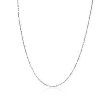 CBAI 菜百首饰 9PTN0309 时尚铂金女士项链 (3g、40CM、银色)