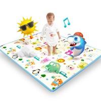 纽因贝婴儿爬行垫宝宝爬爬垫加厚客厅家用儿童垫子地垫毯环保整张
