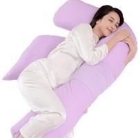 乐孕 ly807s-z1 F型 孕妇枕 浪漫薰紫