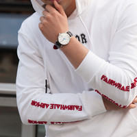 Beijing 北京手表 经典 BG051007 男款机械表 (圆形、牛皮、白色、40mm)