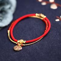 PHOENIX 鳳凰 紅色平安鎖腳鏈 (紅色+金色)