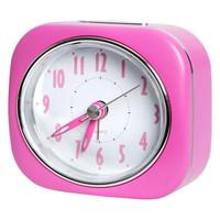 明珠星(PEARL)闹钟可爱简约静音学生儿童小闹铃卧室床头电子钟家用时尚创意小座钟 PT220粉色
