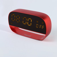 TIMESS 闹钟 儿童学生闹钟 全触屏多功能LED闹钟床头静音闹钟T002-4红色 *4件