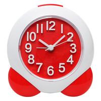 明珠星(PEARL)闹钟 创意学生时钟儿童卧室床头柜闹表时尚客厅懒人静音钟表闹铃PT103红色