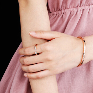 CALVIN KLEIN 卡尔文·克莱 brilliant 闪耀系列 316L不锈钢PVD镀玫瑰金戒指